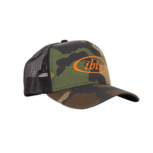 IBIS Hat Trucker Camo w/ Orange Logo